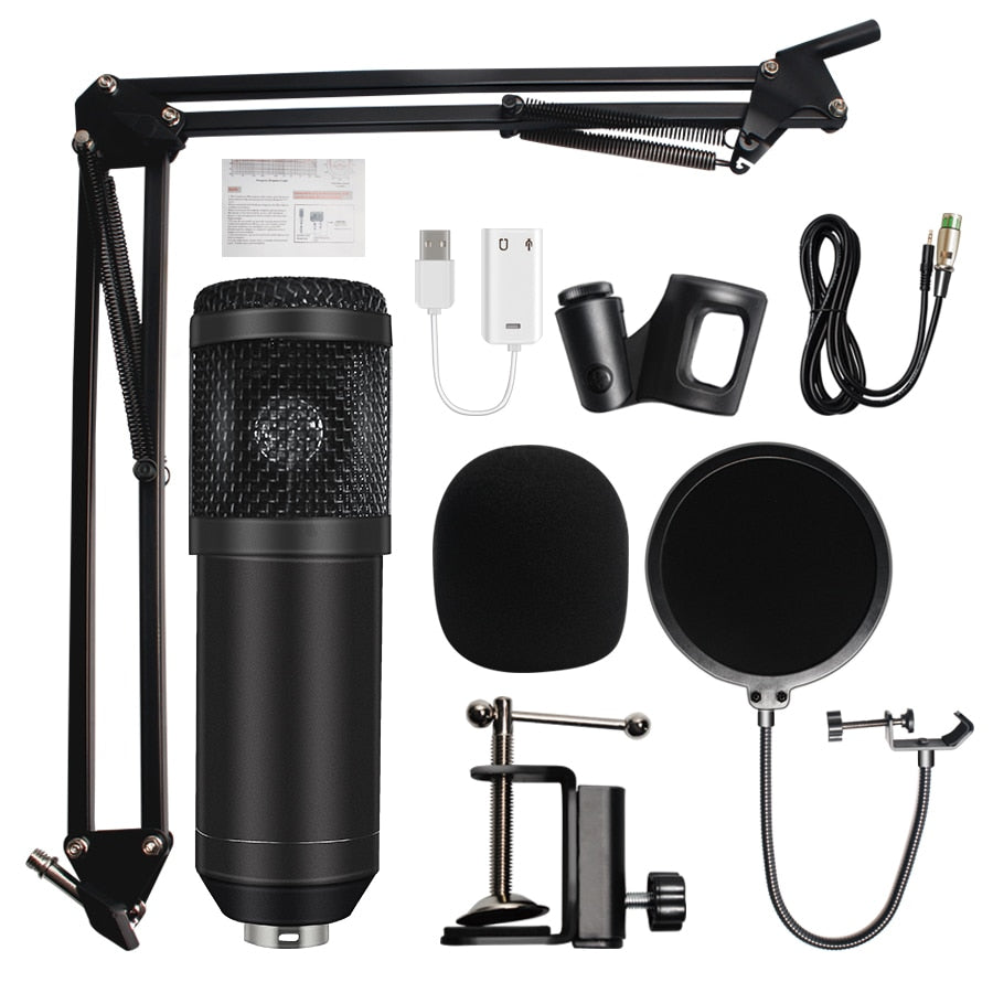 Professional Studio Microphone BM-800 Condenser Sound Recording Microphone For computer