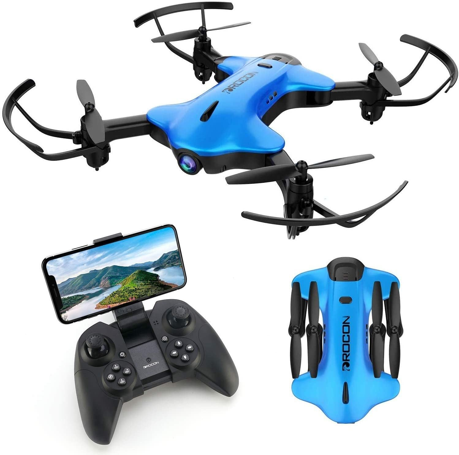 DROCON Ninja Drone for Kids & Beginners FPV RC Drone with 1080P HD Wi-Fi Camera
