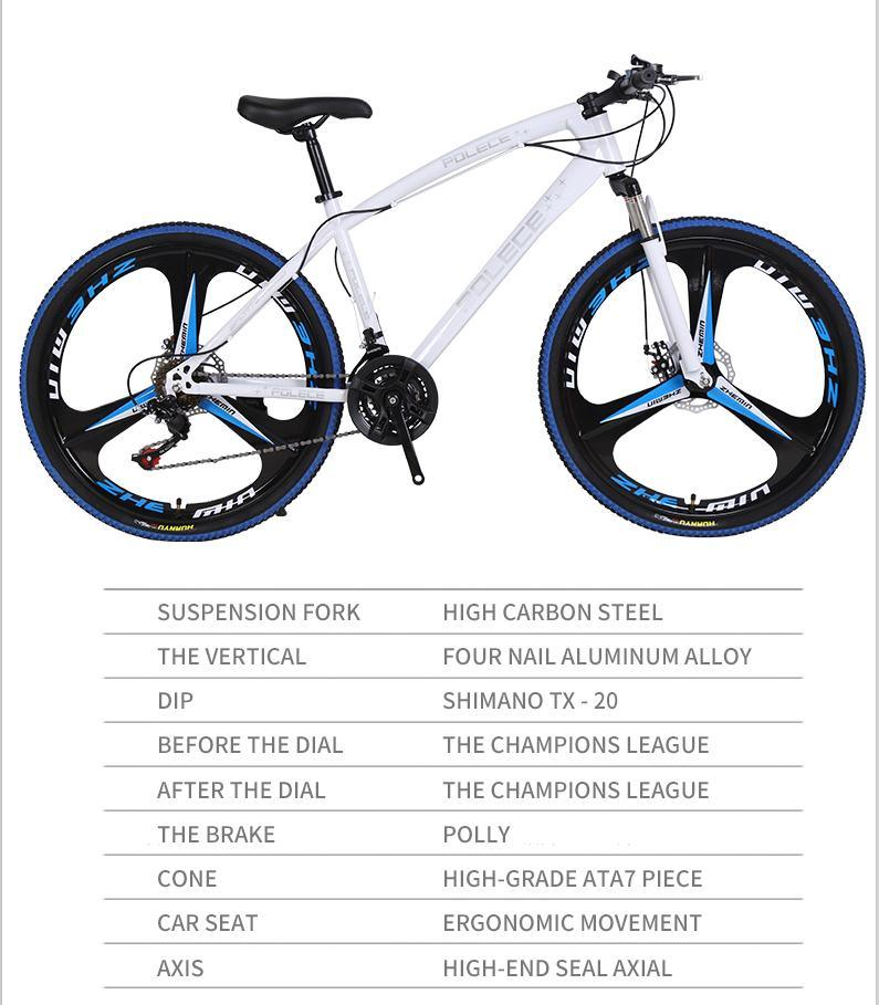 New Python shaped mountain bike 26 inch one wheel double disc brake