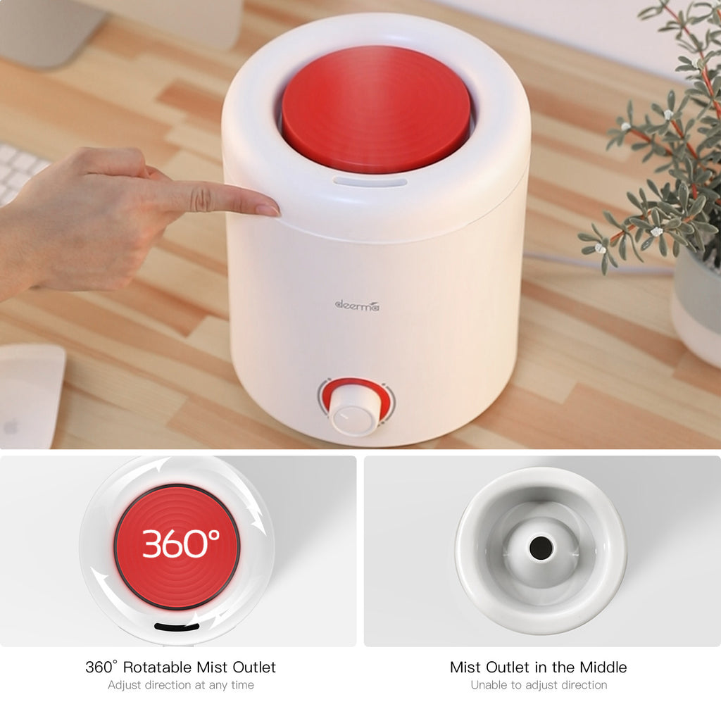 DEERMA Humidifier 2 in 1 Top Fill Ultrasonic Humidifier & Essential Oil Diffuser