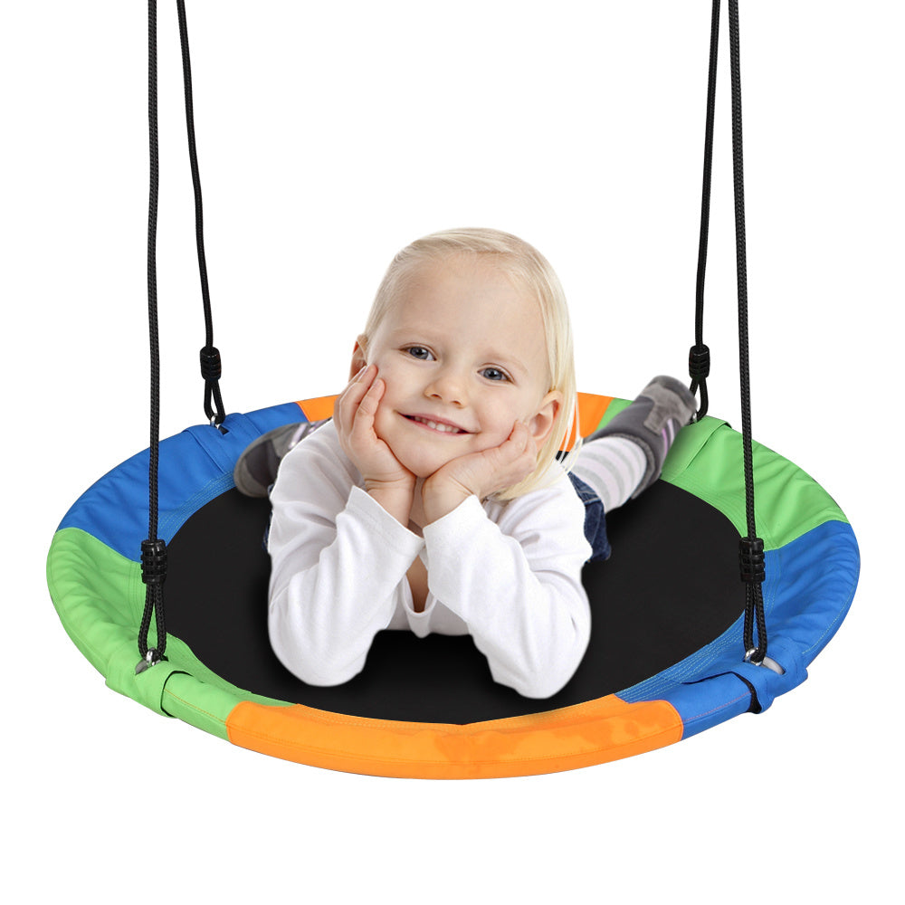 900D Oxford Cloth Round Swing for kids, Diameter 100cm  (With Hook / Swing Belt / Bunting) XH