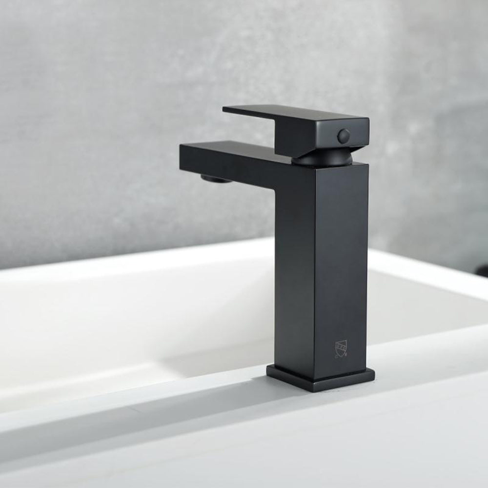 Matte Black Single Handle Bathroom Faucets For Single Hole or Three Holes Brass Basin Mixer Taps