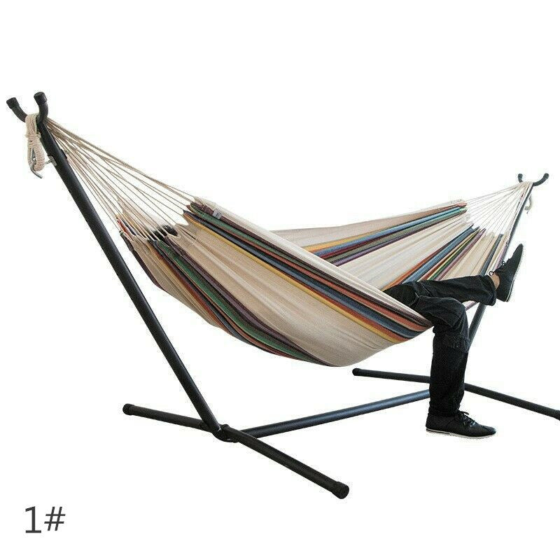 Hammock & Steel Frame Stand Swing Chair Home/Outdoor