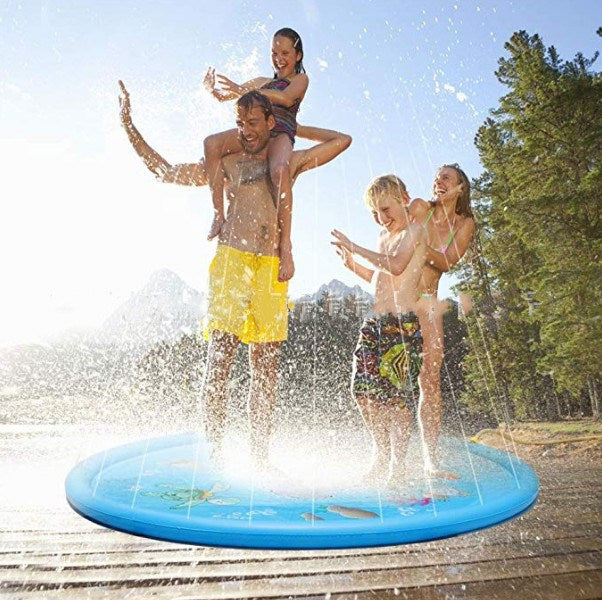 Outdoor Splash Pad 68 inch Sprinkler Play Mat for Baby Toddlers Kids