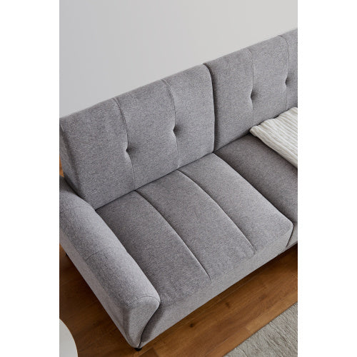 "Modern polyester fabric sofa 71""W Grey"
