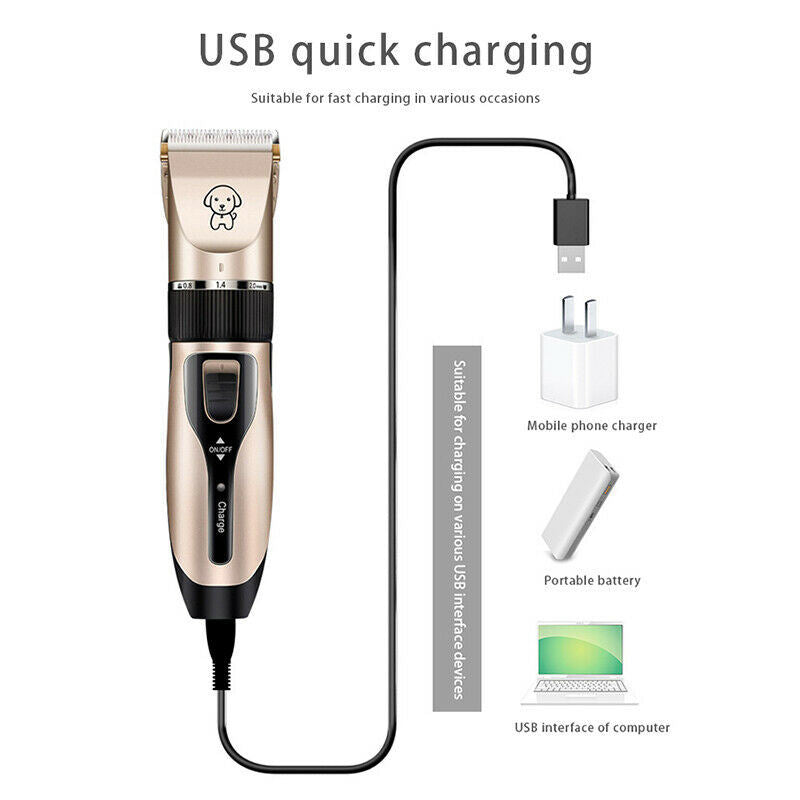Dog Shaver Clippers Low Noise Rechargeable Cordless Electric Quiet Hair Clippers Set for Dogs Cats Pets Pet grooming