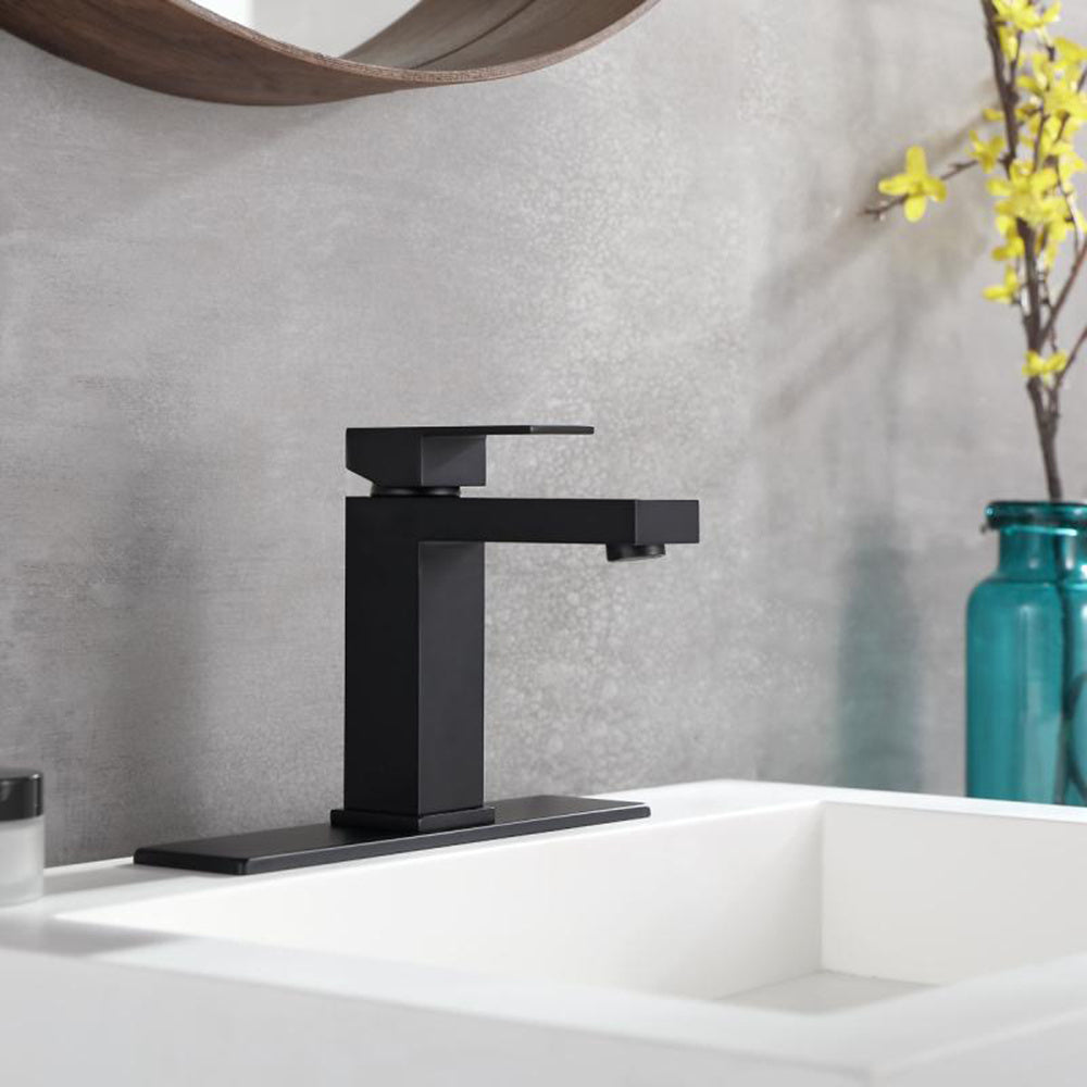 Black Matte Single Handle Bathroom Faucets For Single Hole or Three Holes Brass Basin Mixer Taps