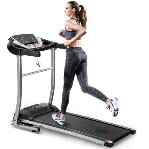 Electric treadmill  folding exercise machine with 12 preset programs for home use