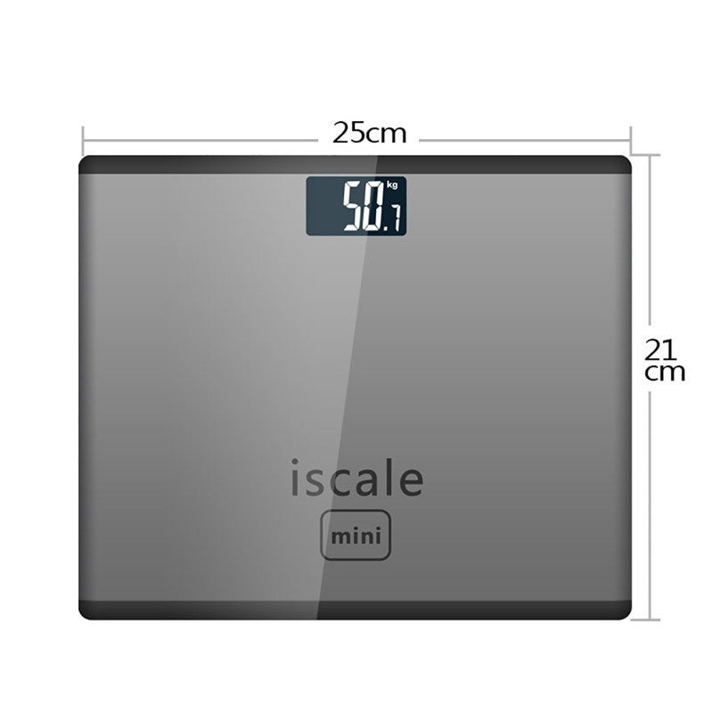 Electronic Smart Weighing Scales LED Digital Display Weight Weighing Bathroom Scales Tempered Glass