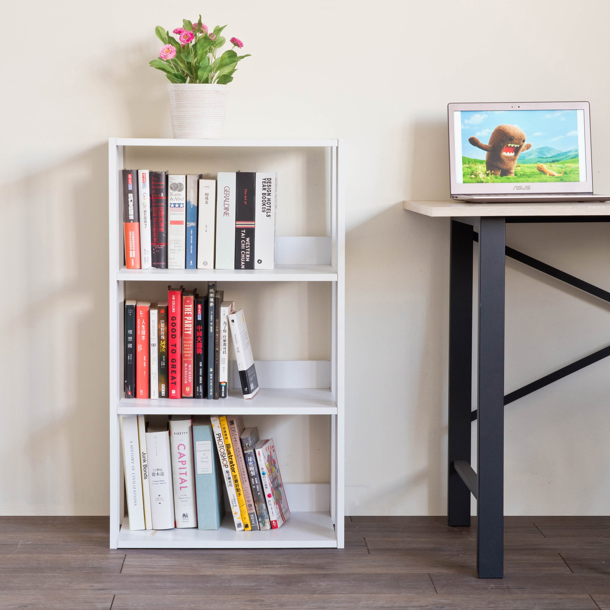 DIY 3-Shelf Bookcase