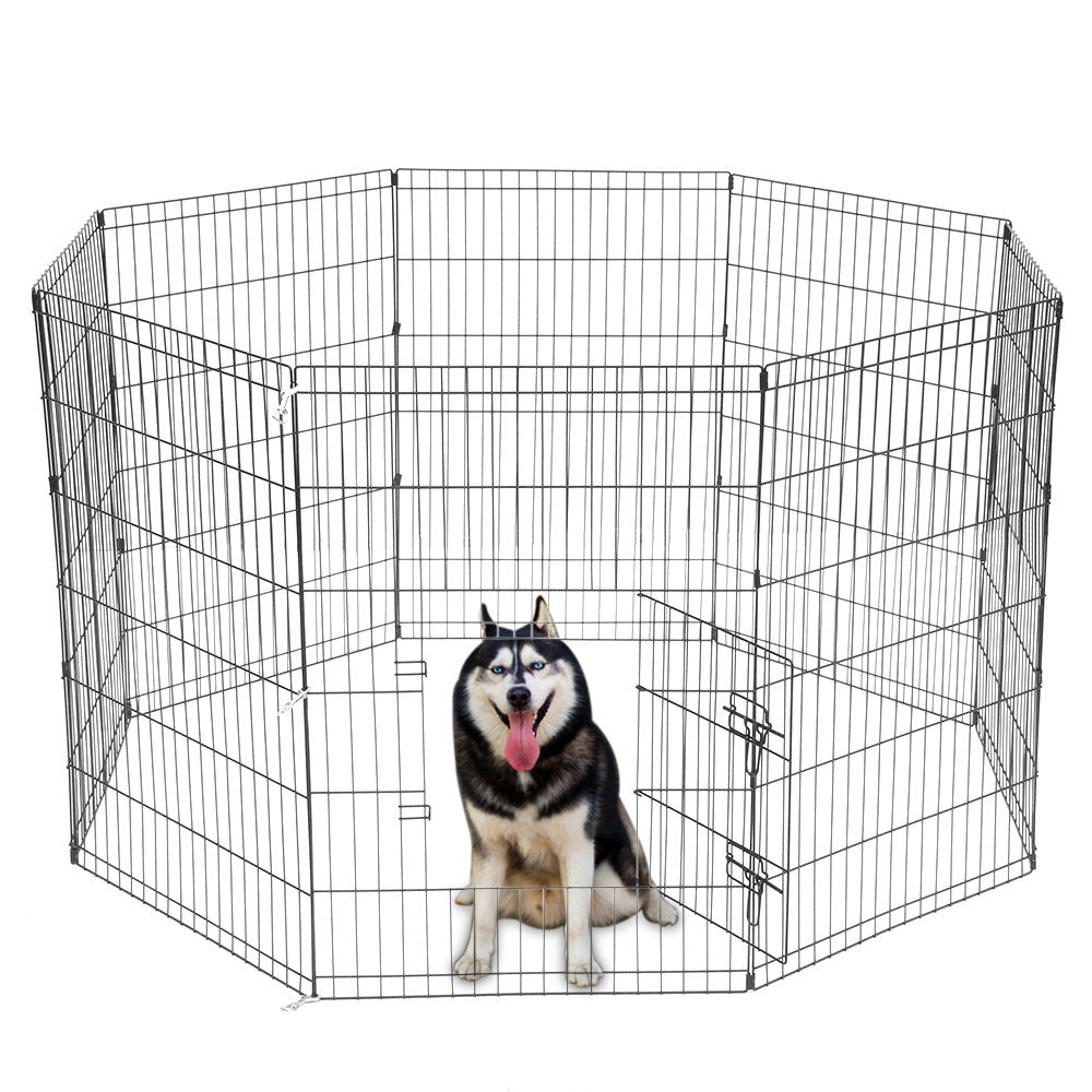 Tall Wire Fence Dog Cat Folding Exercise Yard Play Pen