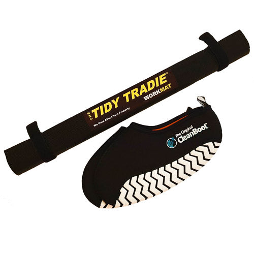Tidy tradie combo. Large work mat with any size cleanboot