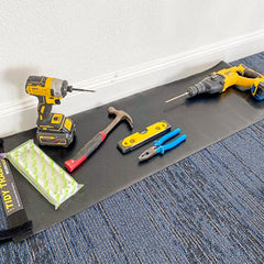 Small tidy tradie work mat for small maintenance jobs.