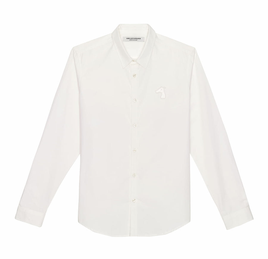 POPLIN SLIM FIT SHIRT WITH LOGO EMBROIDERED (A19MD01123WH1A)