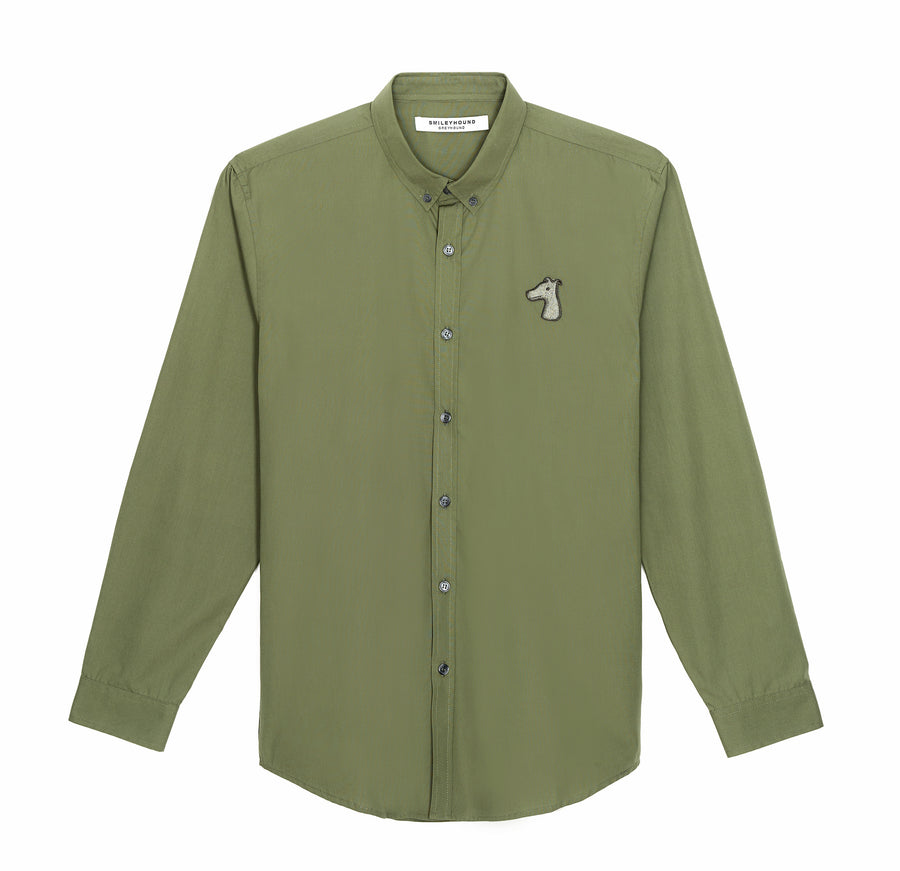 POPLIN REGULAR FIT SHIRT WITH LOGO EMBROIDERED (A19MD01253GR1A)