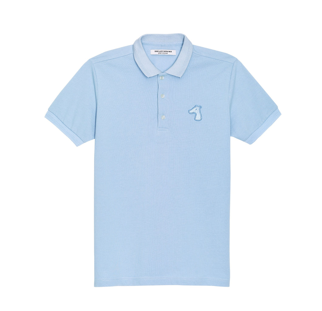 PIQUE COTTON DOWN POLO SHIRT WITH LOGO TONE ON TONE EMBROIDED (S20MS03153BL1A)
