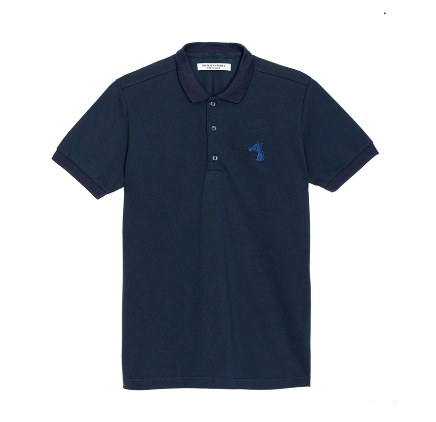 PIQUE COTTON DOWN POLO SHIRT WITH LOGO TONE ON TONE EMBROIDED (S20MS03153NB1A)