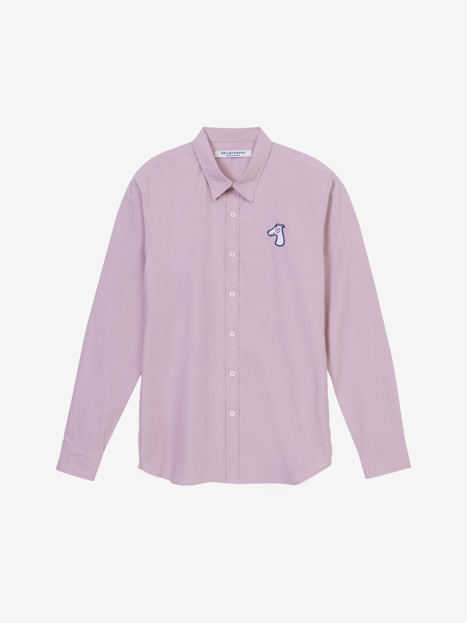 POPLIN SLIM SHIRT WITH LOGO EMBROIDED