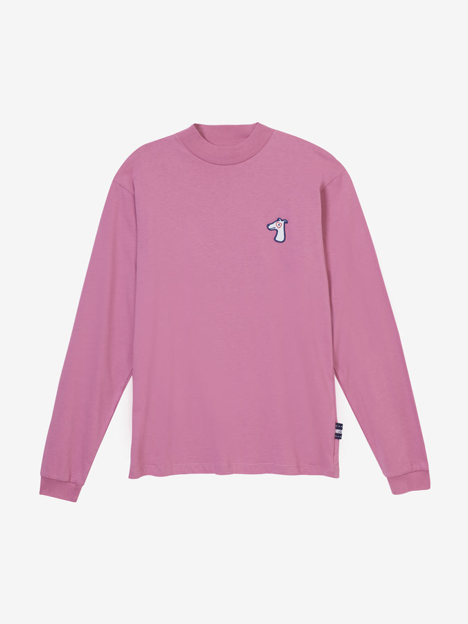 COTTON JERSEY LONG SLEEVES T-SHIRT WITH LOGO EMBROIDED