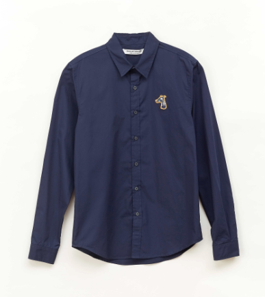 Load image into Gallery viewer, POPLIN SLIM FIT SHIRT WITH LOGO EMBROIDERED (S20MD01212NB1B)