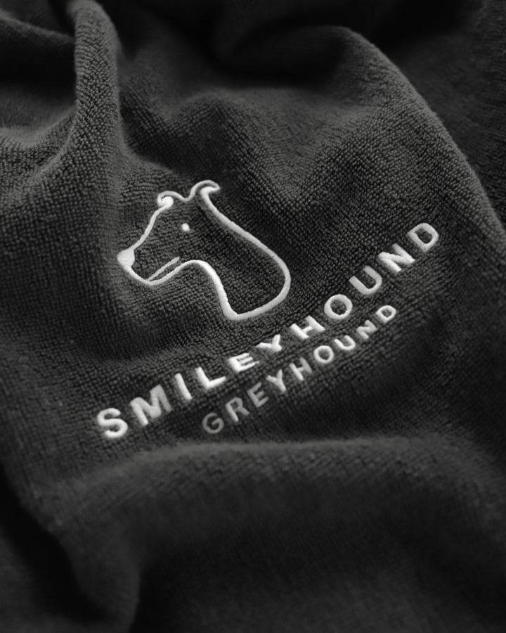 Smileyhound Cotton Towel Grey