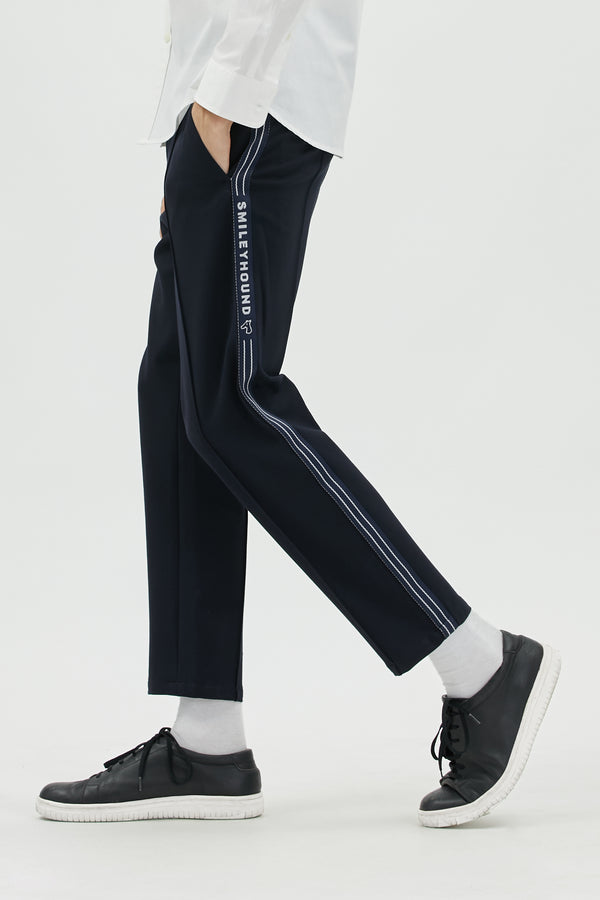 COTTON BLEND JERSEY TRACK PANTS