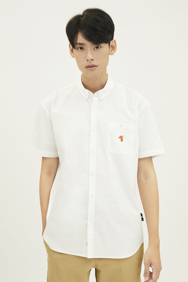 POPLIN REGULAR SHIRT WITH LOGO EMBROIDED (S20MD01193WH1A)