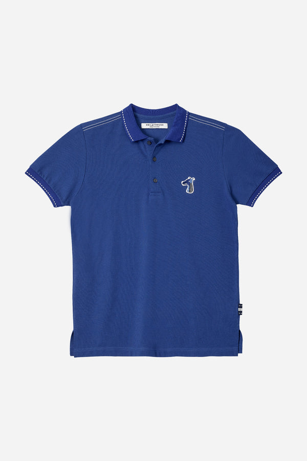 PIQUE POLO SHIRT WITH LOGO EMBROIDED (S20MD03112NB1A)