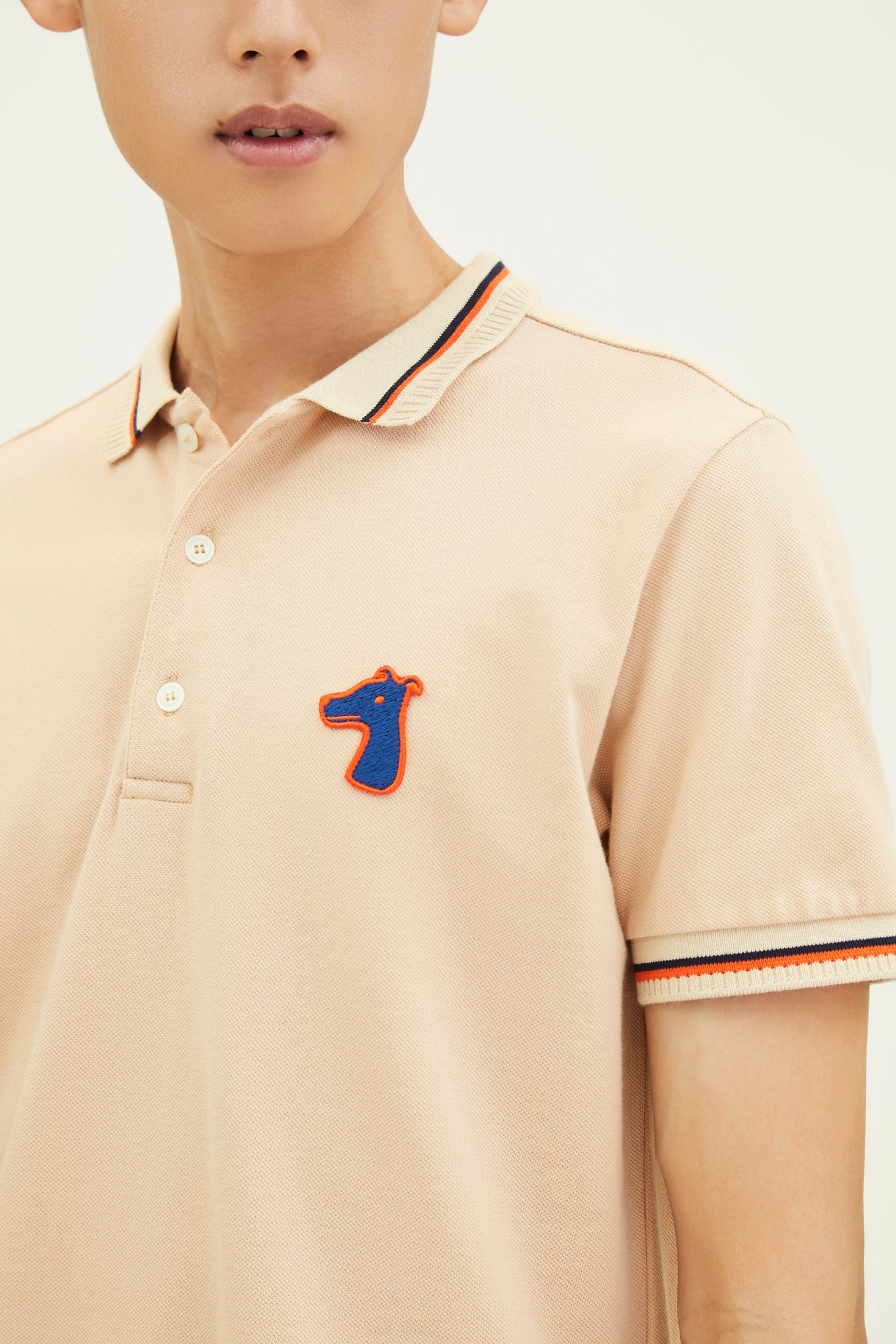 Load image into Gallery viewer, PIQUE POLO SHIRT WITH LOGO EMBROIDED (S20MD03163BE1A)
