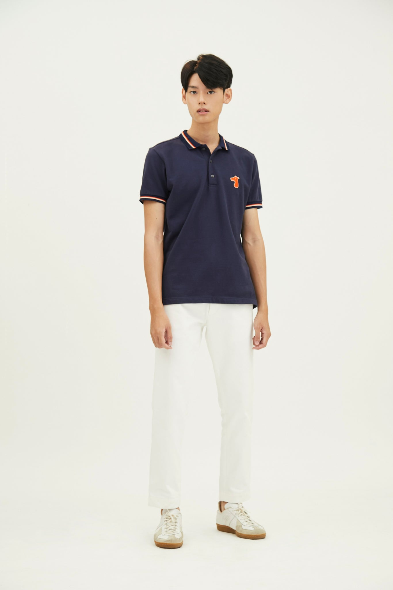 Load image into Gallery viewer, PIQUE POLO SHIRT WITH LOGO EMBROIDED (S20MD03163NB1A)