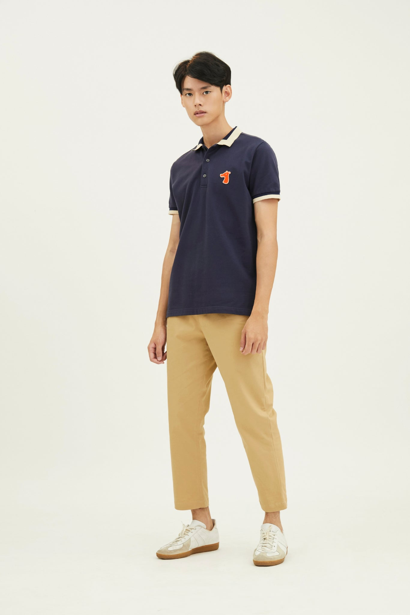Load image into Gallery viewer, PIQUE POLO SHIRT WITH LOGO EMBROIDED (S20MD03173NB1A)
