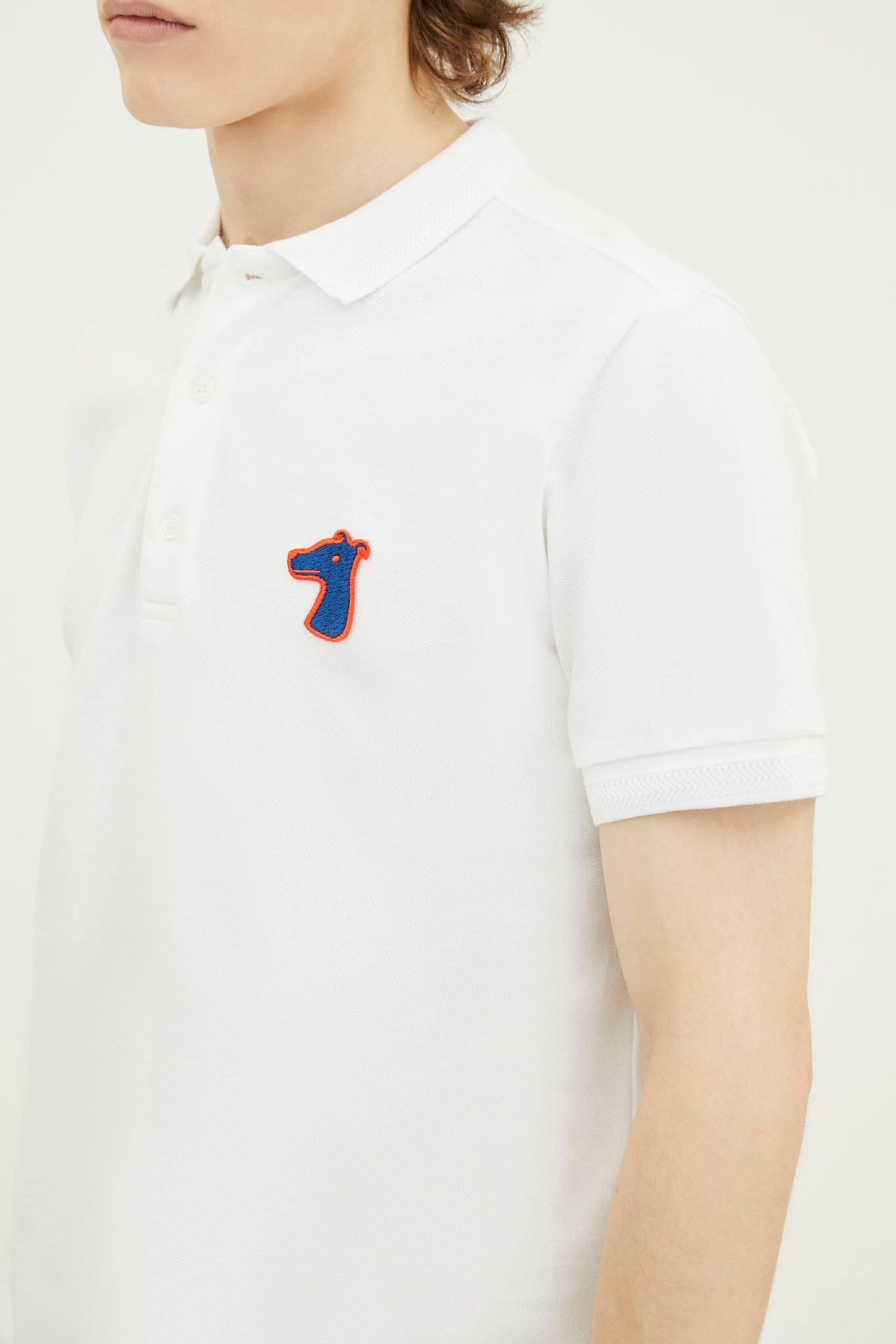 Load image into Gallery viewer, PIQUE POLO SHIRT WITH LOGO EMBROIDED (S20MD03183WH1A)