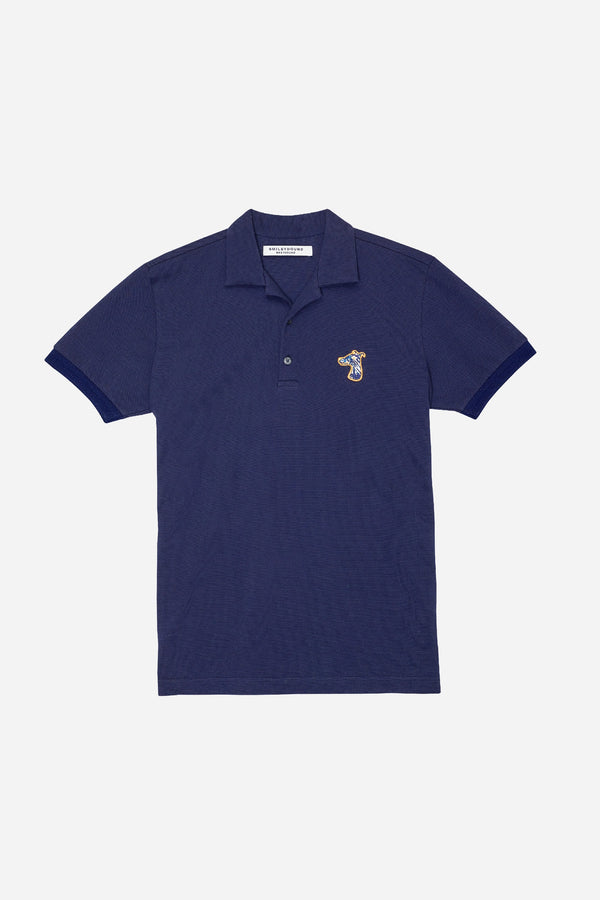 PIQUE POLO SHIRT WITH LOGO EMBROIDED (S20MD03292NB1B)