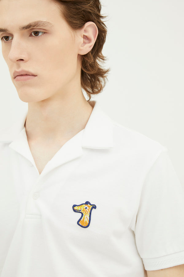 PIQUE POLO SHIRT WITH LOGO EMBROIDED (S20MD03292WH1B)