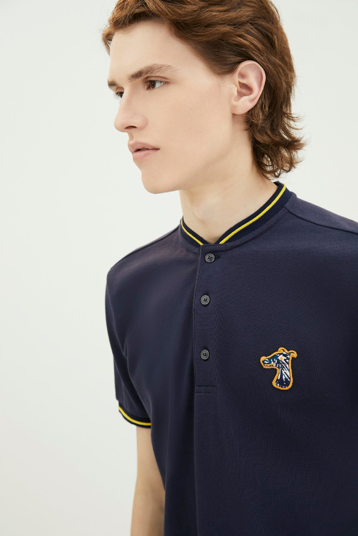Load image into Gallery viewer, PIQUE POLO SHIRT WITH LOGO EMBROIDED (S20MD03322NB1B)