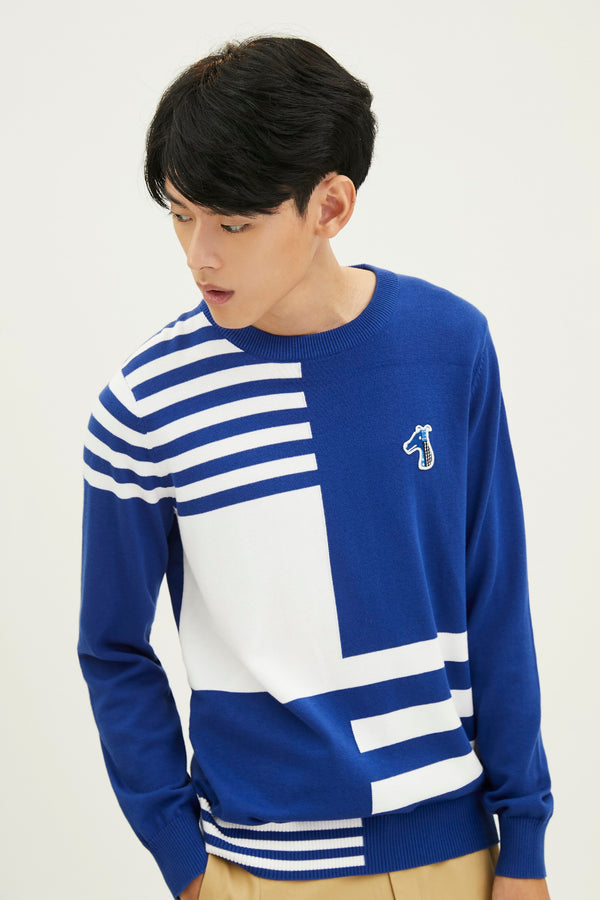 COTTON SWEATER WITH  LOGO EMBROIDED