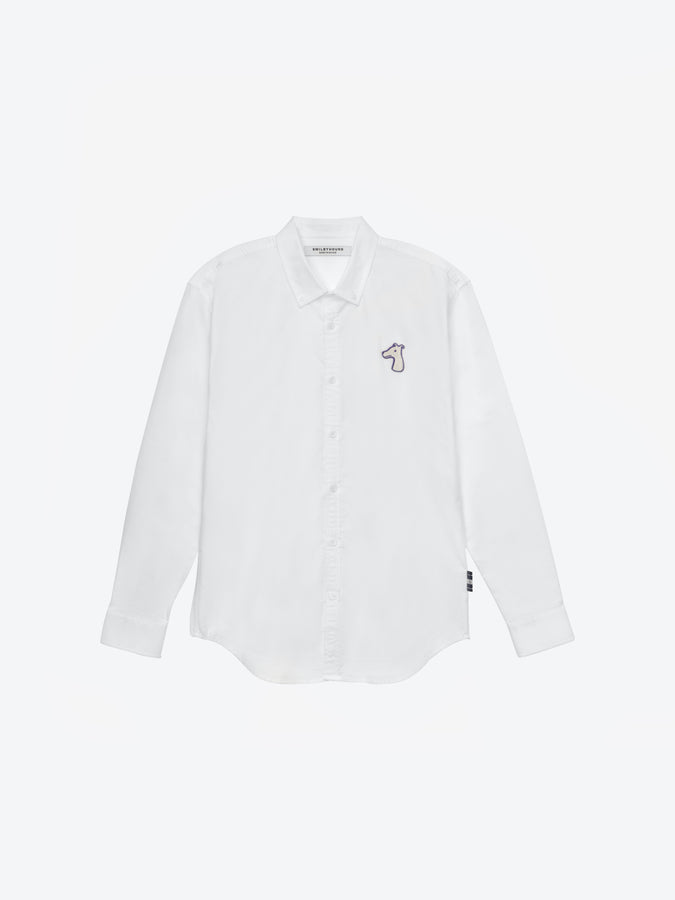 OXFORD REGULAR SHIRT WITH LOGO EMBROIDERED