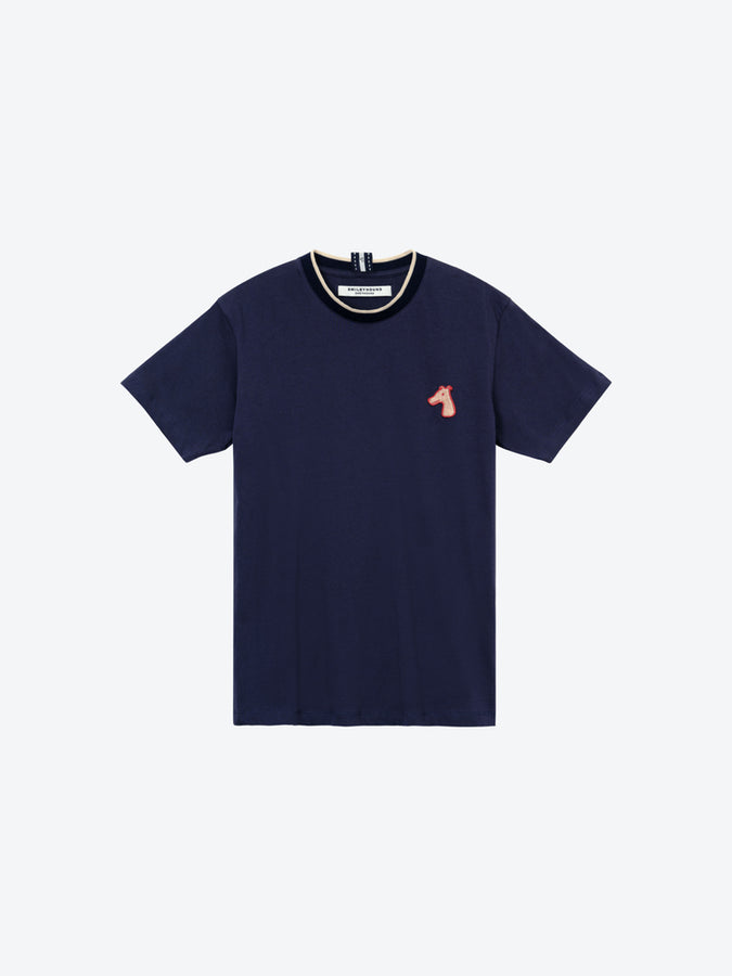COTTON JERSEY T-SHIRT WITH LOGO EMBROIDERED