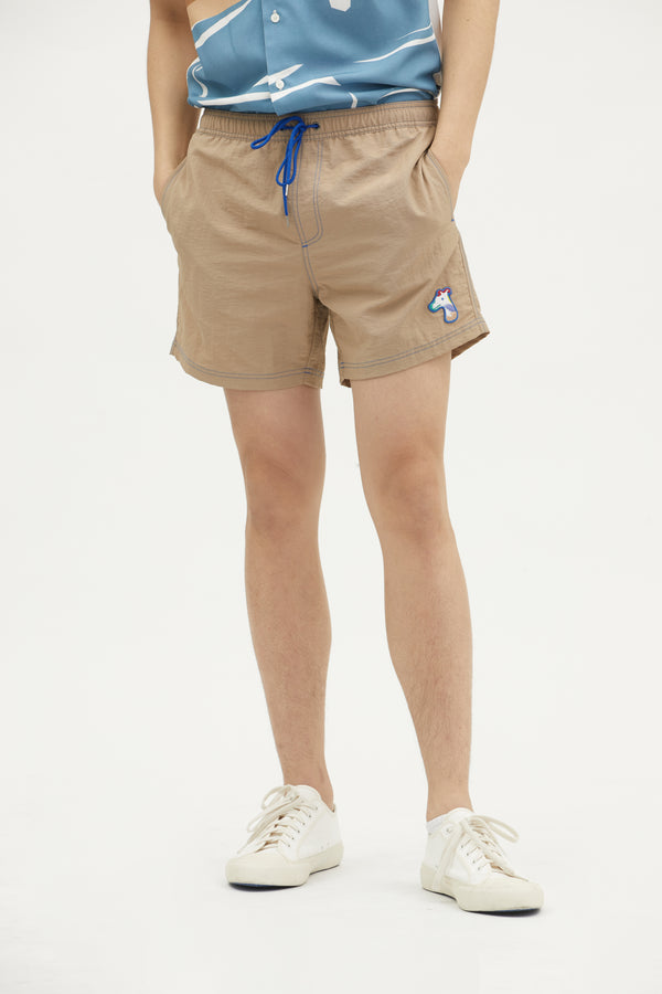 SHORTS WITH LOGO EMBROIDED