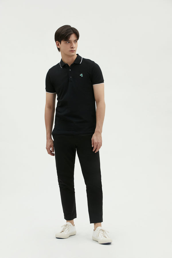 PIQUE POLO SHIRT WITH LOGO EMBROIDERED