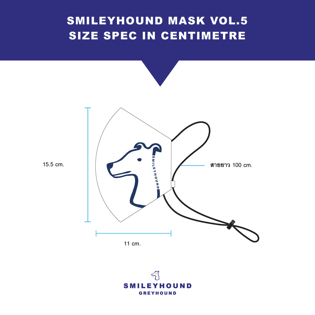 Load image into Gallery viewer, Smileyhound Mask VOL.5 (NAVY)