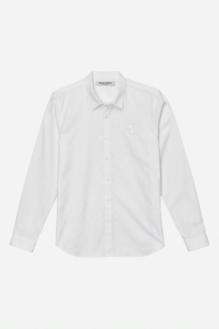 SLIM FIT SHIRT WITH LOGO EMBROIDERED (S20MD01303WH2B)