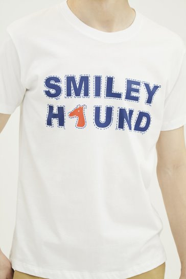 Load image into Gallery viewer, SMILEYHOUND PRINT COTTON JERSEY T-SHIRT (S20MD03242WH1B)