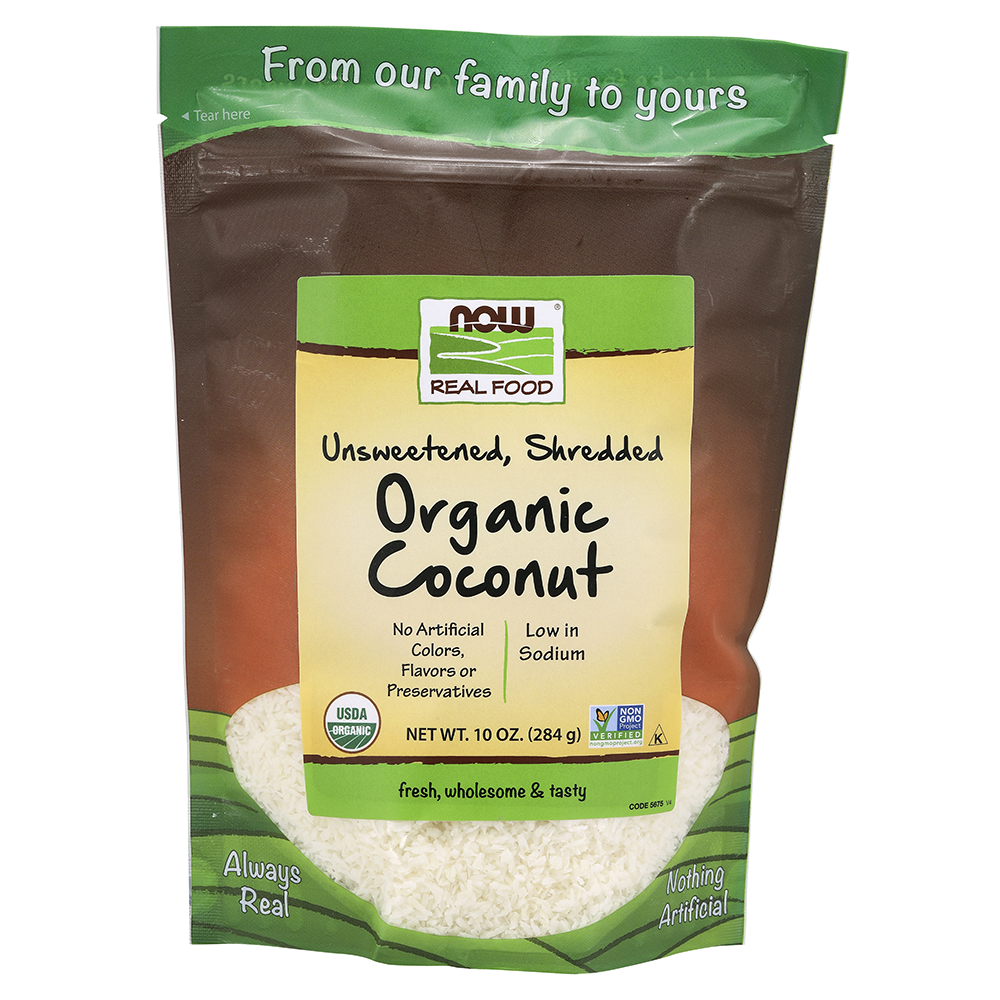 Now Foods - Coconut, Organic, Unsweetened & Shredded
