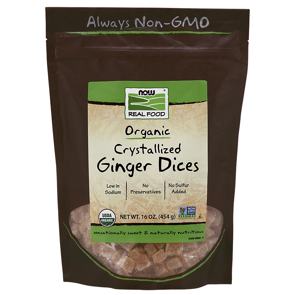 Now Foods - Ginger Dices, Crystallized & Organic