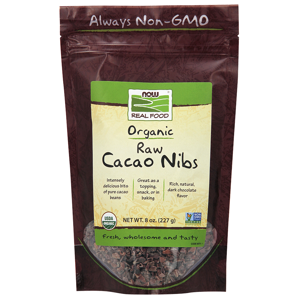 Now Foods - Cacao Nibs, Organic & Raw