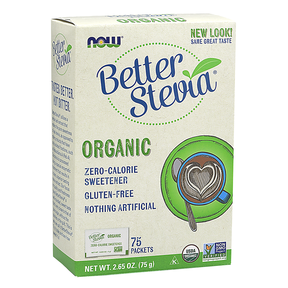 Now Foods - BetterStevia® Packets, Organic