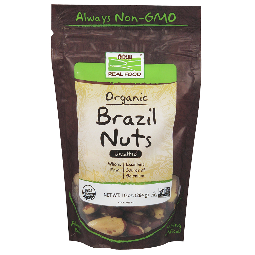 Now Foods - Brazil Nuts, Organic, Whole, Raw & Unsalted