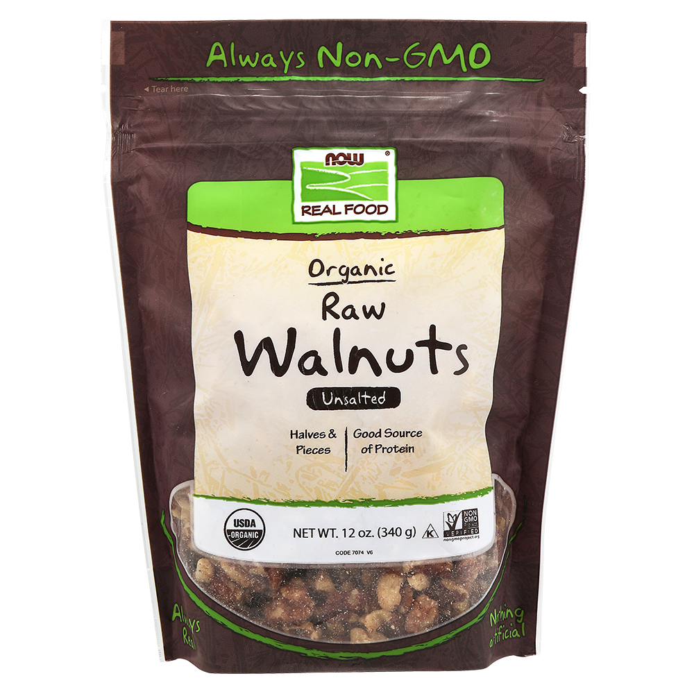 Now Foods - Walnuts, Organic, Raw & Unsalted