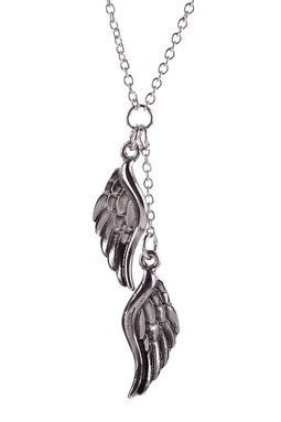 Angel Wings in Antique silver